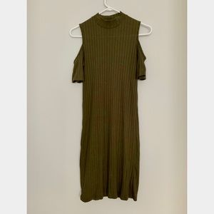 Kleidung & Accessoires Kleider Primark Ladies Khaki Green Long Sleeved Shift Dress Size 10 Bnwt Womens